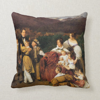 Waldmuller: The Eltz Family, Throw Pillow