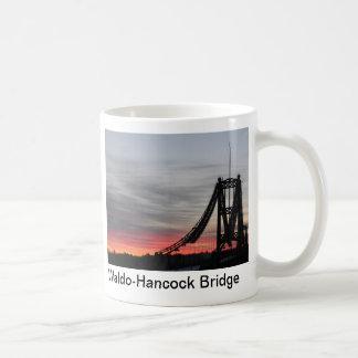 Waldo-Hancock Bridge at sunrise, Waldo-Hancock ... Coffee Mug