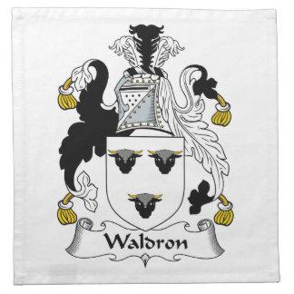 Waldron Family Crest Napkin