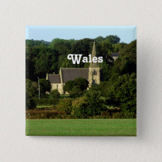 Wales 2 Inch Square Button