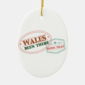 Wales Been There Done That Ceramic Oval Ornament