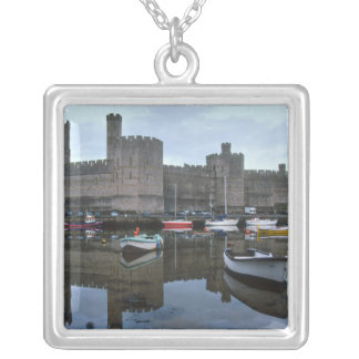 Wales, Caernarfon castle, one of Edward's Silver Plated Necklace