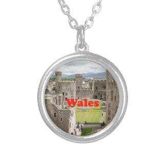 Wales: Caernarfon Castle, United Kingdom Silver Plated Necklace