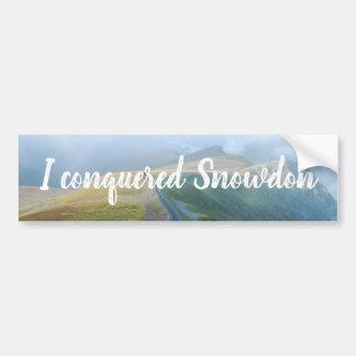 Wales Conquered Snowdon Landscape Welsh Railway Bumper Sticker