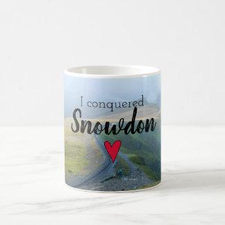 Wales Conquered Snowdon Landscape Welsh Railway Coffee Mug