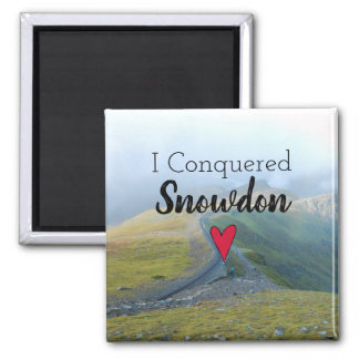 Wales Conquered Snowdon Landscape Welsh Railway Magnet