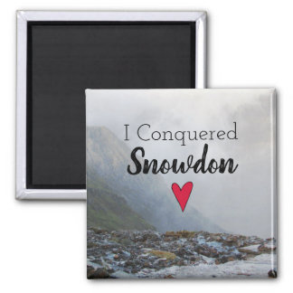 Wales Conquered Snowdon Landscape Welsh Stream Magnet