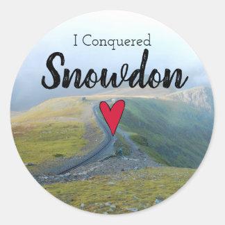 Wales Conquered Snowdon Welsh Railway Souvenir Classic Round Sticker