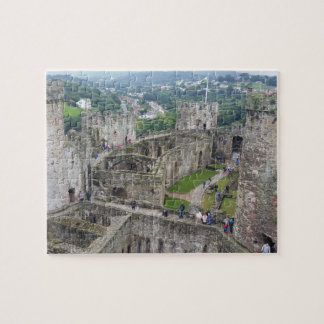 Wales constructing  crumbling castle jigsaw puzzle