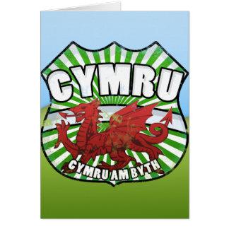 Wales - Cymru - Cymru am byth Card
