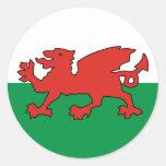 Wales Cymru Drache rot Runder Sticker