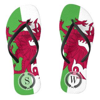 Wales Flag Flip Flops
