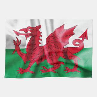 Wales Flag Kitchen Towel