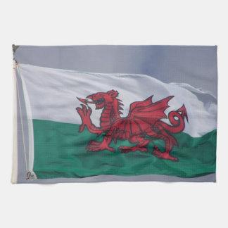 Wales flag kitchen towels