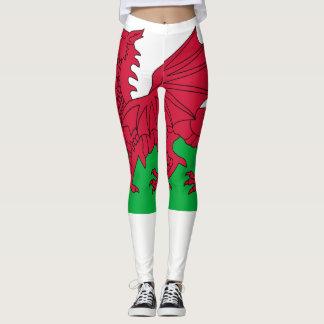 Wales flag leggings