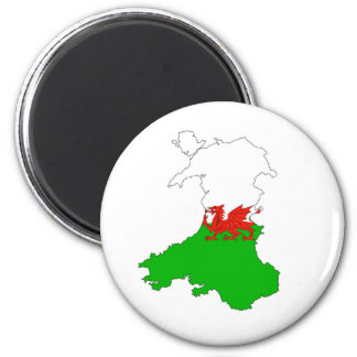 wales flag map united kingdom country shape magnet