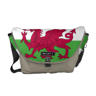 Wales Flag Messenger Bags