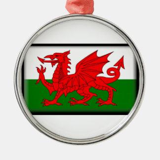 Wales Flag Metal Ornament