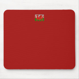 Wales flag on a brick wall mouse pad