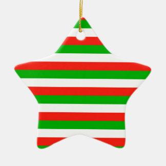 wales flag stripes ceramic ornament