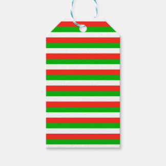 wales flag stripes gift tags