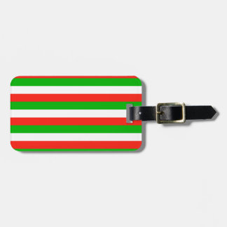 wales flag stripes luggage tag