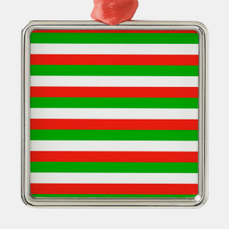 wales flag stripes metal ornament