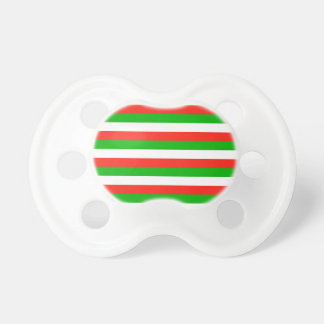 wales flag stripes pacifier