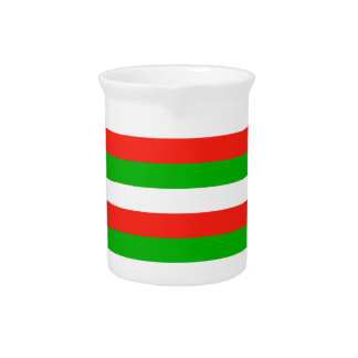 wales flag stripes pitcher