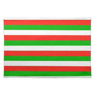 wales flag stripes placemat