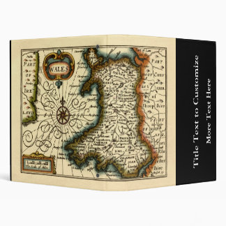 Wales - Historic 17th Century Map of Wales 3 Ring Binders