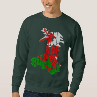Wales Home of Rugby Map Sweatshirt