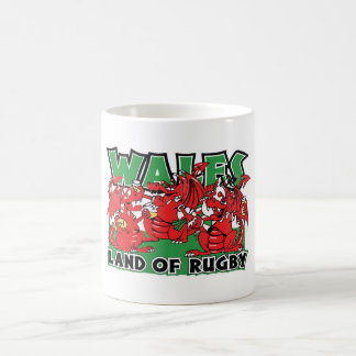 Wales Land of Rugby Welsh Design Coffee Mug