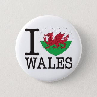 Wales Love v2 2 Inch Round Button