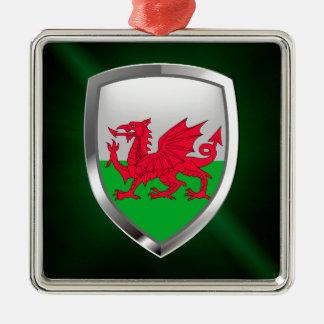 Wales Metallic Emblem Metal Ornament