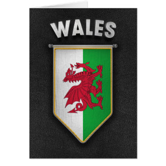 Wales Pennant with high quality leather look Card