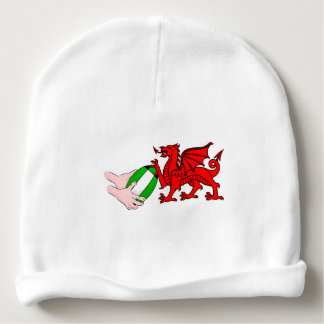 Wales Rugby Team  Dragon With Rugby Ball Baby Beanie
