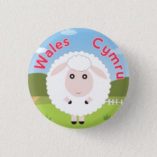 Wales Sheep Pin Button Badge