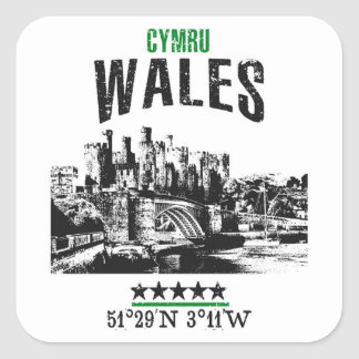 Wales Square Sticker
