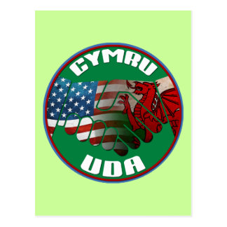 Wales USA Friendship (Welsh text) Postcard