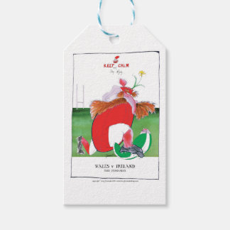 wales v ireland rugby balls by tony fernandes gift tags