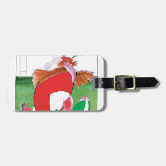wales v ireland rugby balls by tony fernandes luggage tag
