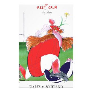 wales v scotland balls - from tony fernandes custom stationery