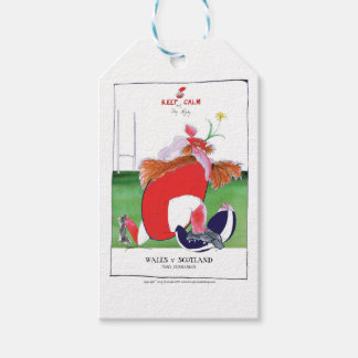 wales v scotland balls - from tony fernandes pack of gift tags