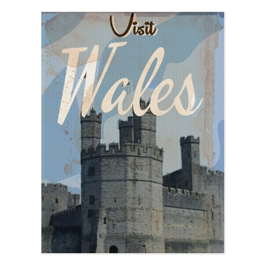 Wales Vintage travel poster Postcard