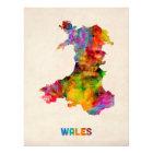 Wales Watercolor Map Photo Print