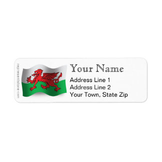 Wales Waving Flag Return Address Label