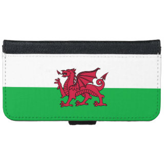 Wales Welsh Dragon Flag iPhone 6 Wallet Case