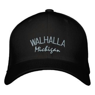 Walhalla Michigan Embroidered Hat