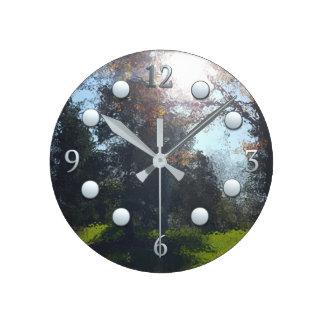 Walk Among The Trees Round Clock